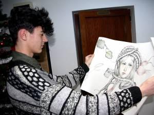Nicu Titus Ungureanu cu una din lucrările sale