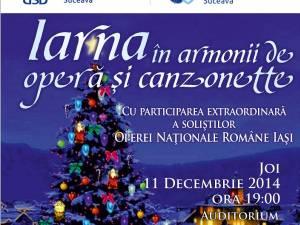 Concert al Operei Naționale din Iași, astăzi, la Universitatea Suceava