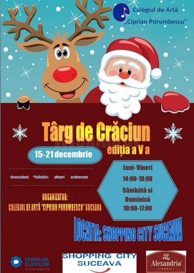 """Târgul de Crăciun al Colegiului de Artă """"Ciprian Porumbescu"""" la Shopping City Suceava"""