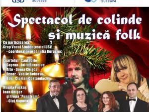 """Spectacol de colinde și muzică folk la Universitatea """"Ștefan cel Mare"""" din Suceava"""