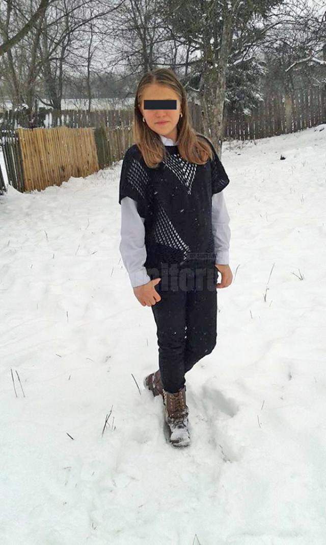 Andreea M. cu câteva zile înainte de accident
