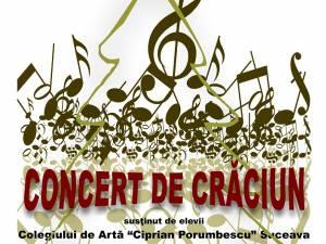 """Concert de Crăciun, oferit astăzi de elevii Colegiului de Artă """"Ciprian Porumbescu"""""""
