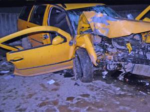 Maşina în care se aflau victimele accidentului de la Bilca Foto: Ioan Negru