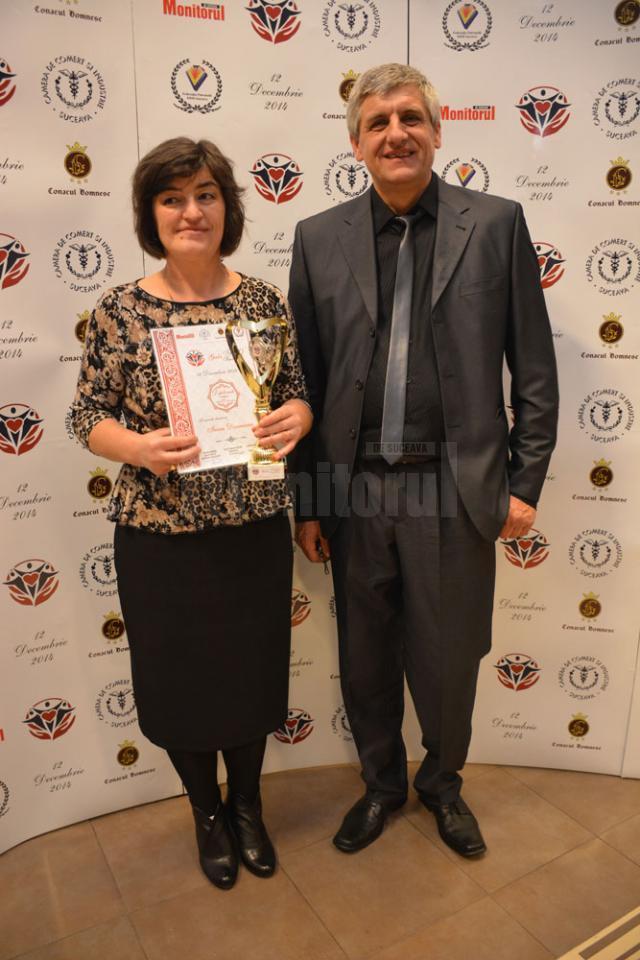 Irina nu a putut participa la Gala Top 10 Suceveni, fiind în cantonament, însă au fost prezenţi părinţii ei, Mariana şi Cornel Dorneanu