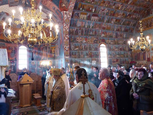 Hram la Voroneţ de Sfântul Cuvios Daniil Sihastrul