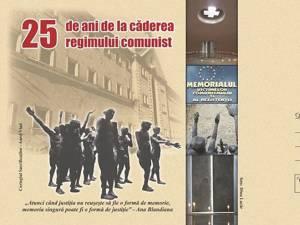 Plic de corespondenţă care marchează împlinirea a 25 de ani de la căderea regimului comunist