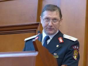 Generalul de brigadă Ion Burlui, inspectorul-şef al ISU Suceava