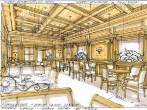 Barul viitorului restaurant din cabana Rarău