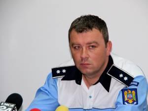 Comisarul Petrică Jucan, şeful Serviciului de Poliţie Rutieră Suceava