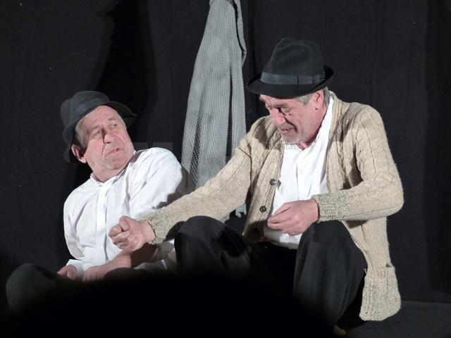 Actorii Marcel Iureş şi George Mihăiţă, pe scena suceveană