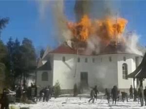 Incendiul de la biserica din Poiana Stampei