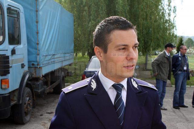 """Subcomisarul Ionuţ Epureanu: """"Județul Suceava se clasează pe locul 3 la nivel național, cu un număr redus de fapte comparativ cu alte inspectorate de poliție, fiind cu mult sub media națională"""""""