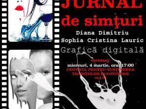 """Expoziţia de grafică digitală """"Jurnal de simţuri"""""""