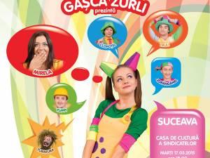 """Spectacolul """"Întâmplări din lumea poveştilor"""" cu Gaşca Zurli, la Casa de Cultură Suceava"""