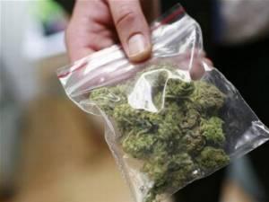 Ofiţerii Antidrog i-au găsit tânărului în bagaj mai multe grame de canabis. Foto: antena3.ro