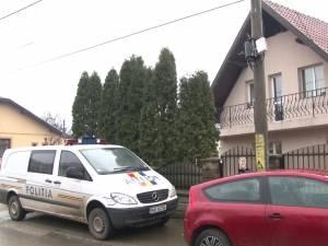 Casa în care a fost atacată femeia
