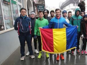 În ciuda ploii care a căzut ieri, Ioan-Alexandru Strugariu a plecat din Rădăuţi într-un ultramaraton care se va încheia la Iaşi