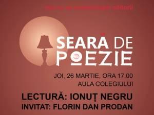 """Seară de Poezie, joi, la Colegiul """"Petru Rareş"""" Suceava"""