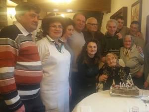 Areta Dominte a fost sărbătorită la împlinirea celor 105 ani de viaţă