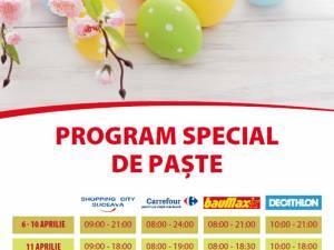 Programul de Paşte al magazinelor din malluri şi al supermarketurilor din Suceava