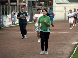 Suceveni la alergat pe stadionul Areni