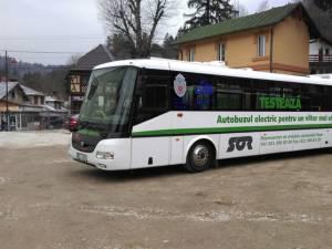 Sucevenii vor putea călători gratuit cu un autobuz electric, săptămâna viitoare