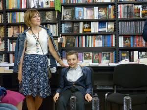 Sebi împreună cu jurnalista Adriana Dascălu Bulină