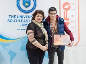 Matei Clipa, alături de prof. Gabriela Coajă