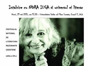Întâlnire cu Nora Iuga, vineri, la USV