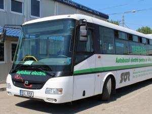 Autobuzul electric produs în Cehia care a circulat zilele trecute prin Suceava