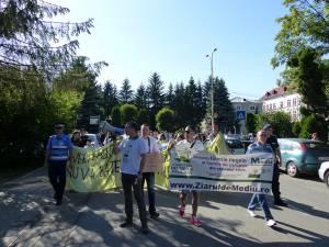 Protestatarii în marş pe străzile municipiului Suceava