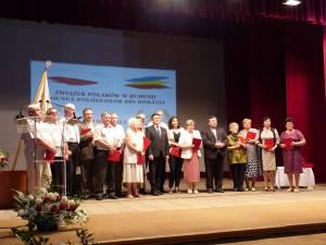 Colaboratorii Uniunii Polonezilor din România au fost răsplătiţi cu plachete omagiale