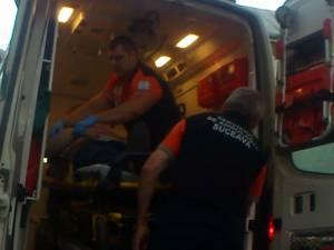 Bărbatul, care a intrat în stop cardio-respirator, a fost preluat de ambulanţă