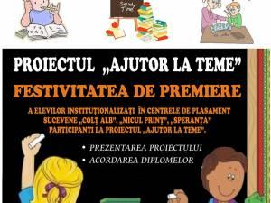 """Festivitatea de premiere a elevilor participanţi la proiectul """"Ajutor la teme"""""""