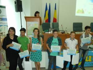 Elevii premiaţi în cadrul concursului