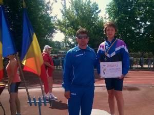 Atletul Vlad Crâșmaru, pregătit la CSM Suceava de Radu Mihalescu a câștigat argintul la 2000 metri marș, copii I