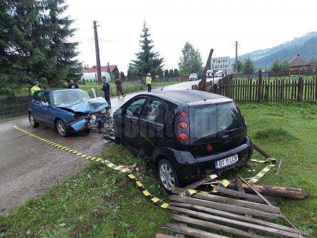 Maşinile implicate în accident