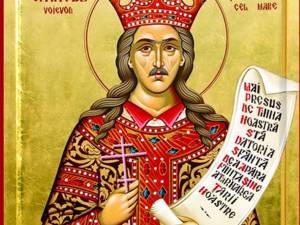 Sfântul Ştefan cel Mare - icoană pictată în atelierele Mănăstirii Putna