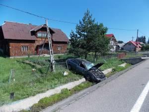 Accidentul s-a petrecut la Poiana Stampei, iar la volan se afla un lituanian în vârstă de 72 de ani