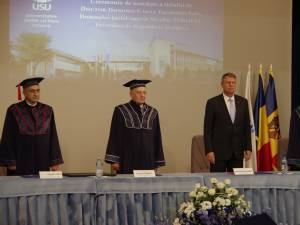 Preşedintele Republicii Moldova a primit titlul de Doctor Honoris Causa al Universităţii Suceava