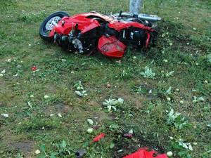 Motocicleta implicată în accident