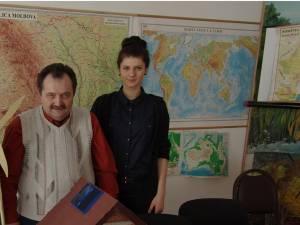Lorena Davidel, alături de prof. Marcel Porof
