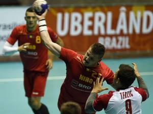 Suceveanul Gabriel Burlacu a marcat un gol pentru România în disputa cu Spania  Foto brazilhandball2015.com