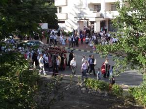 Procesiune şi rugăciune pe străzile Sucevei pentru ploaie