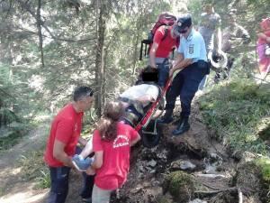 Salvamontiştii au fost nevoiţi să intervină pentru a salva persoanele accidentate