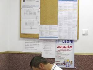Panoul cu locuri de muncă al AJOFM nu duce lipsă de oferte pentru posturi ce necesită studii minime sau medii