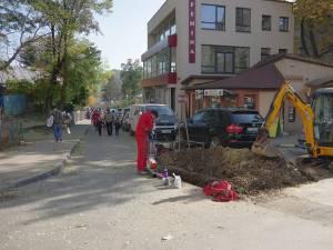 Strada Tudor Vladimirescu a fost închisă de la un capăt la celălalt