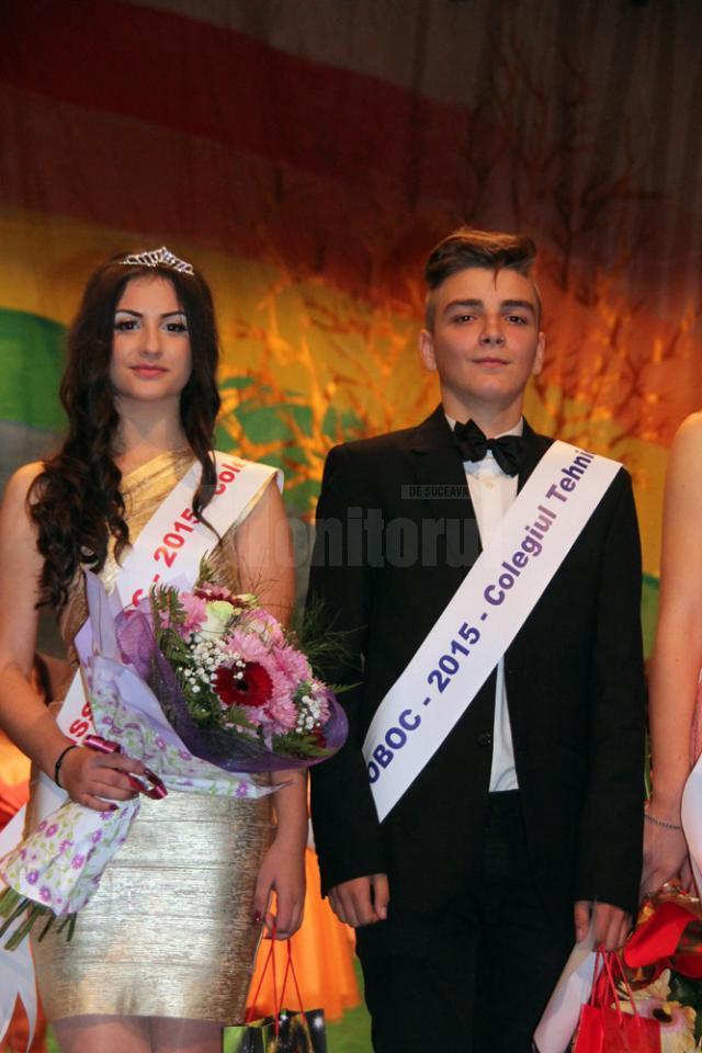 Miss şi Mister 2015 ai Colegiului de Industrie Alimentară - Bianca Gorcea şi Eduard Rusu