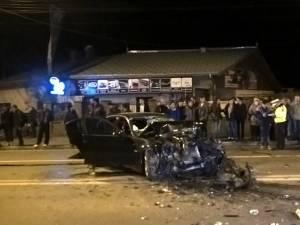 BMW-ul scăpat de sub control