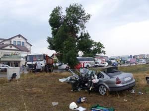 Accidentul de la sfârşitul lunii iulie, pe E 85, la ieşirea din Suceava spre Fălticeni, unde două femei şi-au pierdut viaţa
